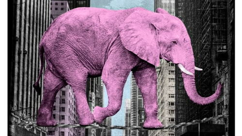 """High in New York, pink - limited edition"" av Lars Tunebo."