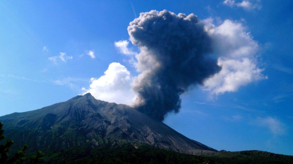 Sakurajima, Japan.