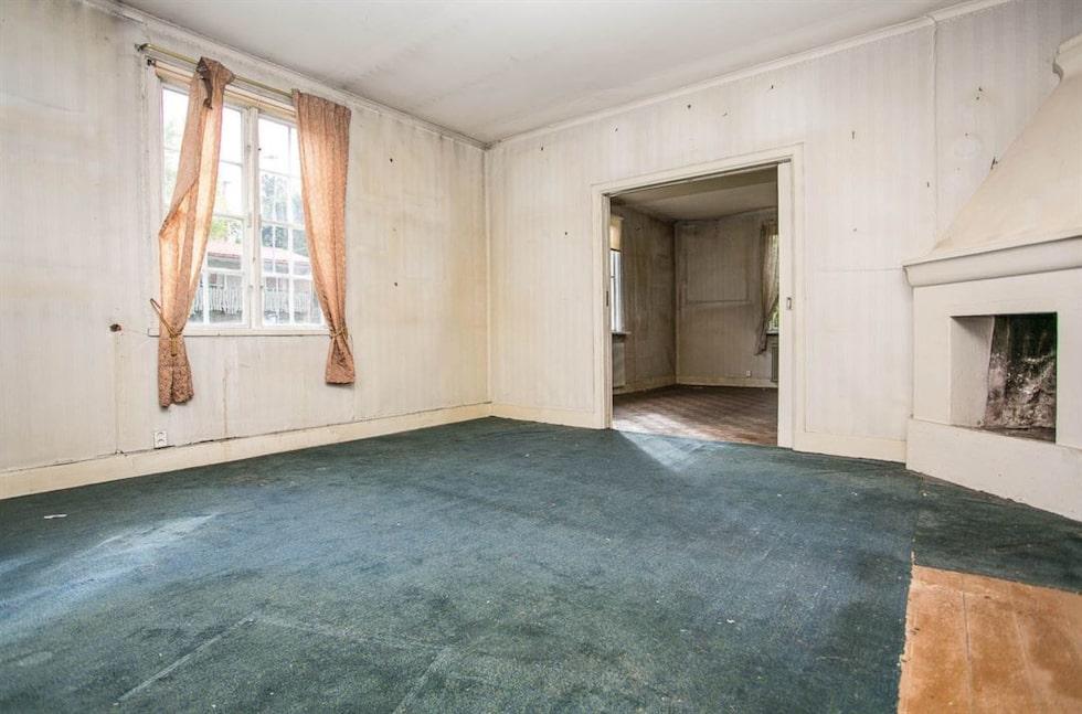 Vardagsrummet som det såg ut förra året.