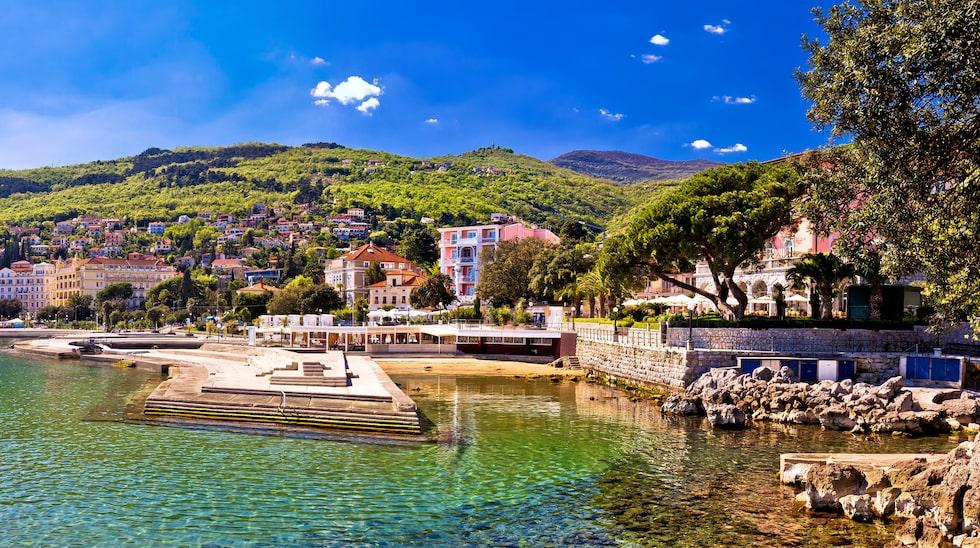 Kvarner heter regionen som ligger inklämd mellan Istrien och Dalmatien.