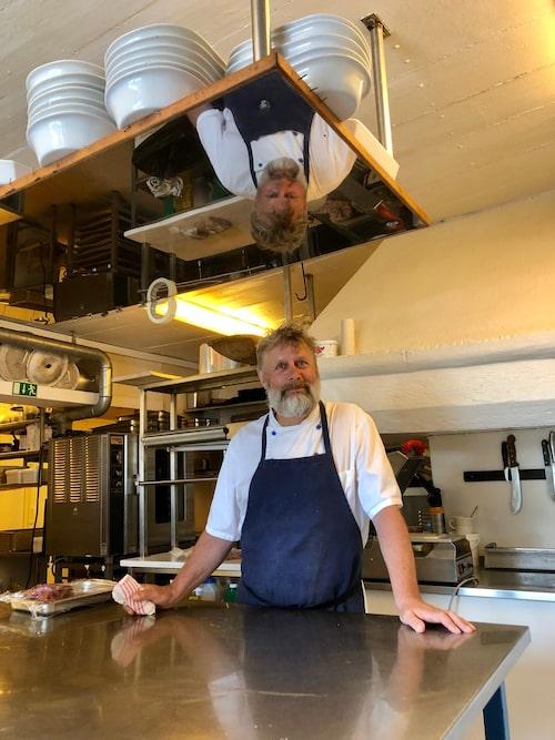 Stefan Johansson på Forshems Gästgivaregård såg till att ramslök hamnade på menyn.