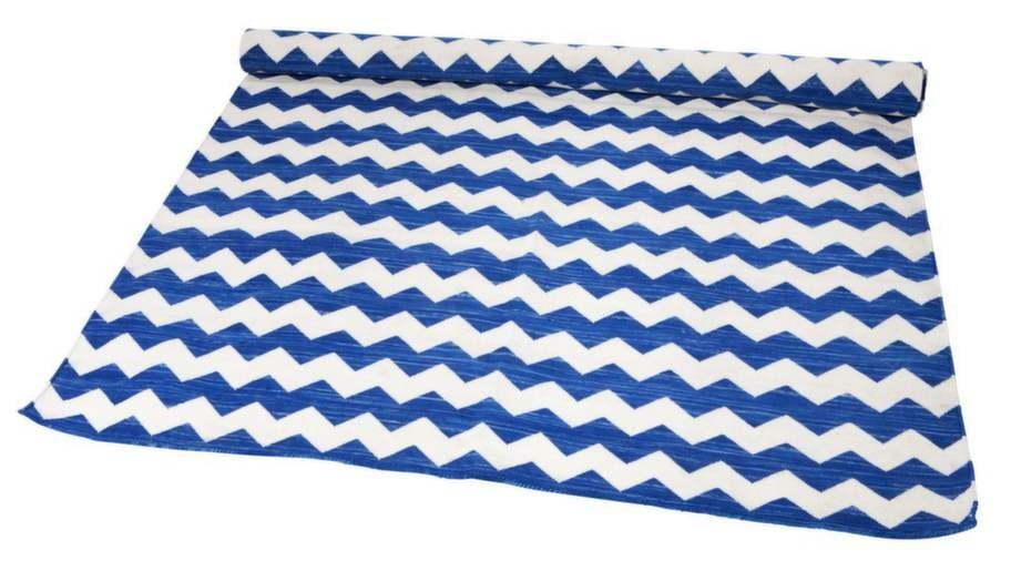24. Vågmönster. Leheriya Carpet i bomull, 120 × 180 centimeter, 3 100 kronor, Anna O.