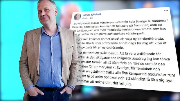 """Jonas Sjöstedts ord om avgången: """"Rätt beslut för min familj"""""""