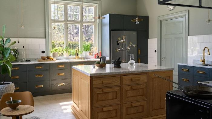 Kök i lugna rogivande färger.