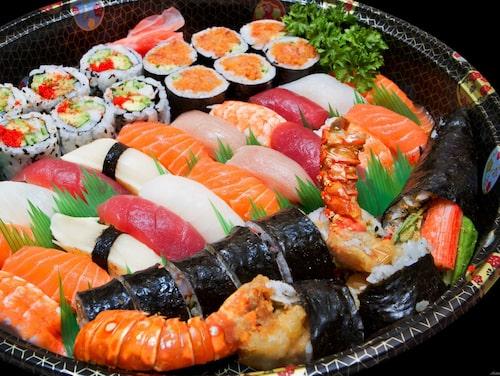 Sushi – en fest för öga och gom.