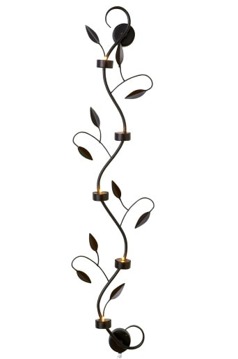 Leaflight vägglampa av metall med bladdekorationer och små glödlampor. Transformator medföljer. Höjd 45 cm. Ordinarie pris: 299 kronor. Mellandagspris: 279 kronor.