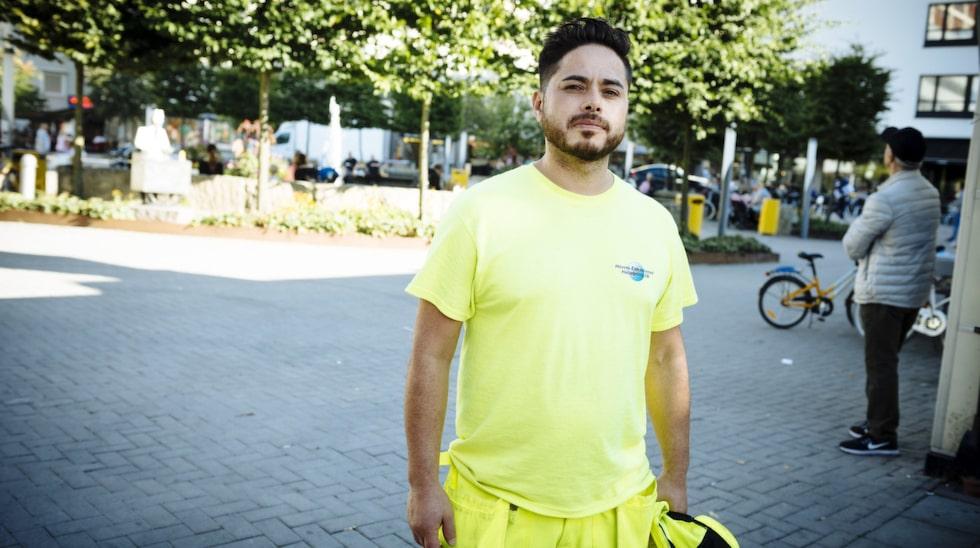 """Har du någon gång oroat dig för att få kol? Gino Mellado, 43 år, byggnadsarbetare Solna: """"Inte alls, jag har inga problem och oroar mig inte."""""""