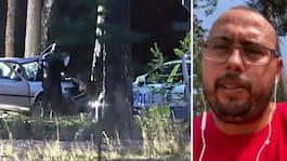 Melvin, 39, hjälpte flickorna ur bilen efter svåra kraschen