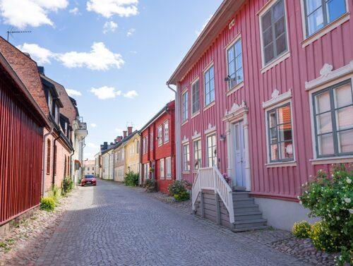 Välbevarade norra delen av Gamla stan i Eksjö.