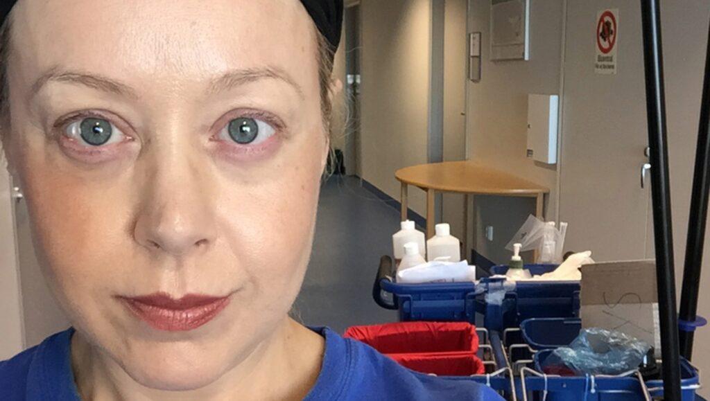 Anna Bäsén wallraffade förra sommaren som städare på ett privat städföretag på Södersjukhuset.