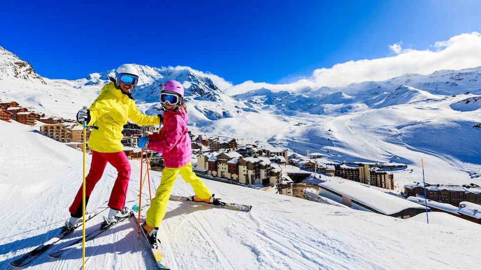 Val Thorens i Frankrike, en skidort med slående vyer.