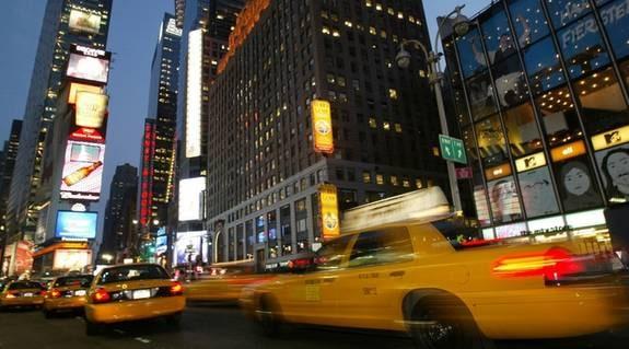POPULÄRAST. Times Square i New York.