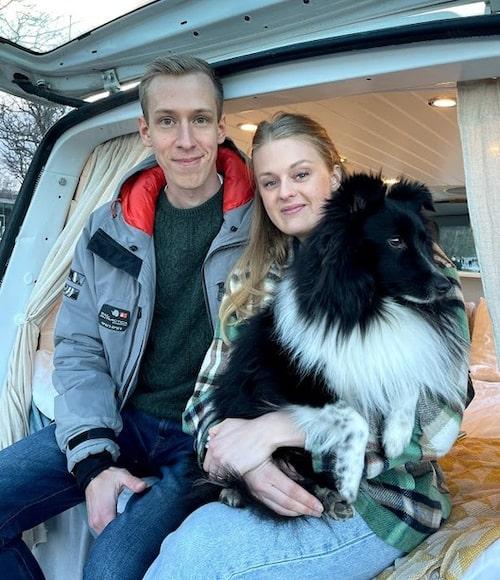 När Sofia gifte sig med Anton kom hunden Liam med på köpet.