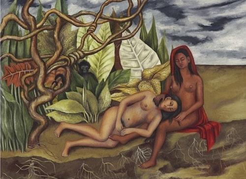 """Frida Kahlos """"Dos Desnudos en el Bosque""""."""
