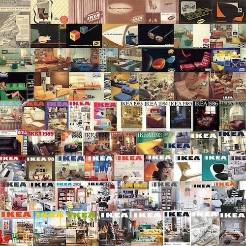 Första Ikea-katalogen kom ut 1951 och distribuerades i 280 000 exemplar. 2016 distribuerades katalogen i 200 miljoner exemplar.
