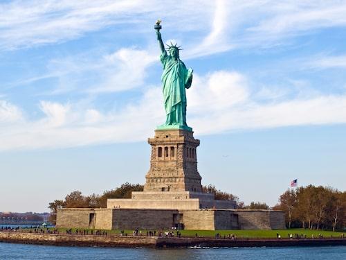 Frihetsgudinnan – världens mest kända staty.