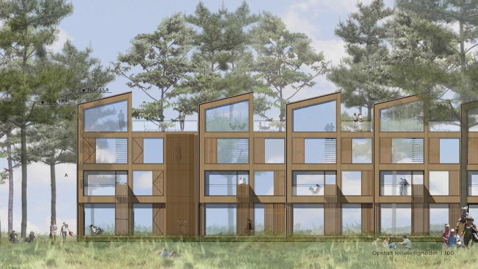 Semesterhusen utformas och placeras med stor hänsyn till den fantastiska miljön i Varamon.