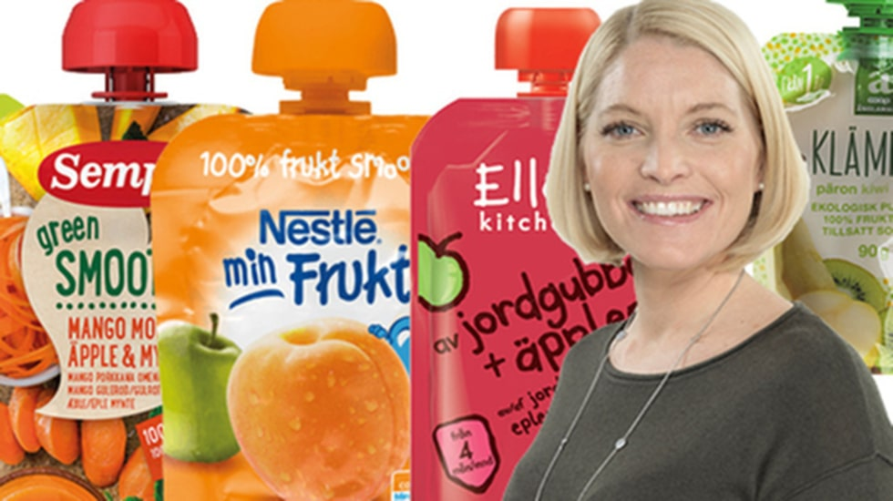 """De färgglada små smoothie-förpackningarna, """"klämmisarna"""", i olika smaker är populära hos barnen, och ett smidigt mellanmålsalternativ att bjuda på för många stressade föräldrar. Men nu varnar experter om att de innehåller en hel del socker."""