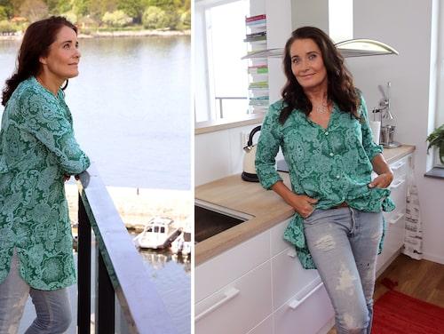 """Agneta älskar sin lägenhet i Nacka. """"Nu kan jag stå och laga mat samtidigt som jag tittar på sjöutsikten."""""""