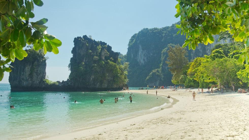 Koh Hong, den lilla paradisön utanför Krabi, en av Thailands alla vackra stränder.