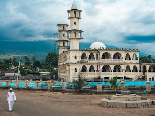 Moské på Grande Comore, den största ön i Komorerna.