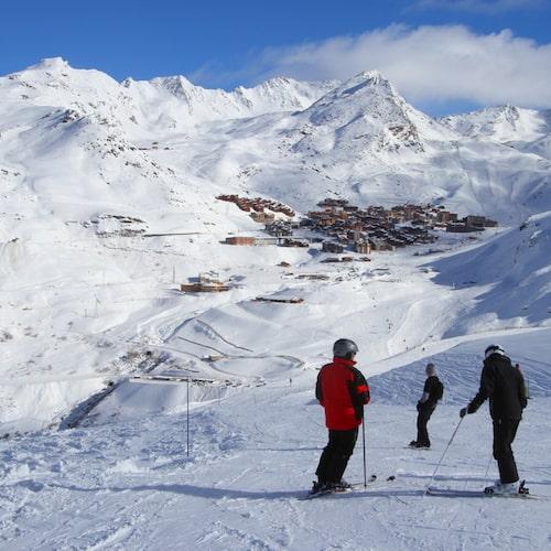 Val Thorens anses vara Alpernas högst belägna skidort.