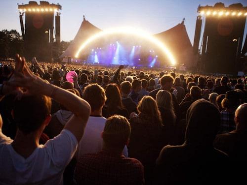 Roskildefestivalen lockar besökare från hela världen