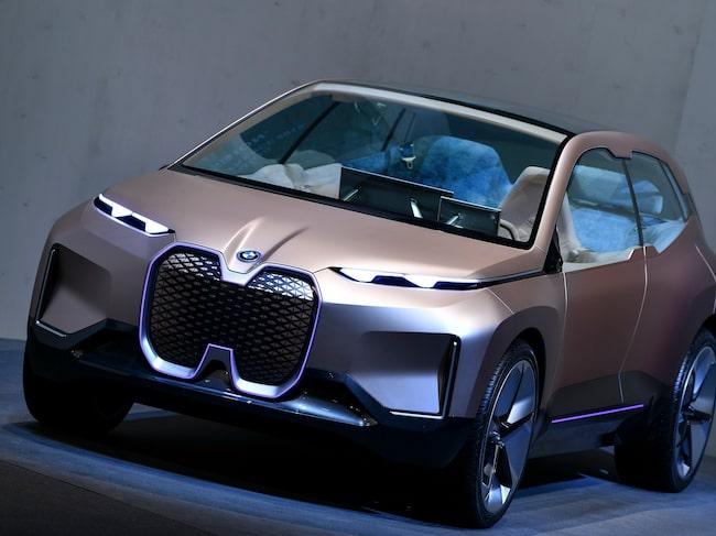 BMW visade upp den kommande elbilen de kallar iNext på presskonferensen i München.
