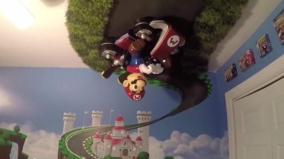 Mario som hänger i taket tog allra längst tid att göra.