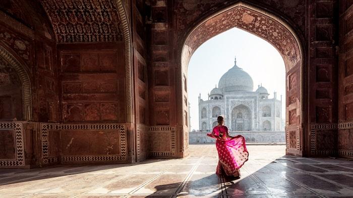 Taj Mahal i Agra, Indien.