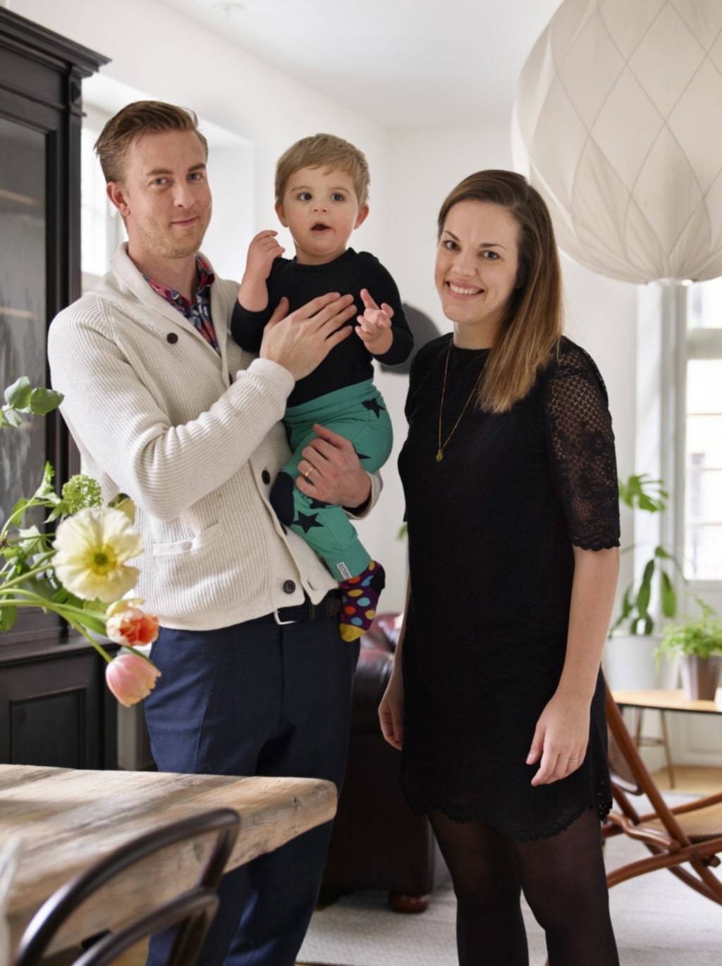 Familjen. Emma, Mikael och Carl-Philip.