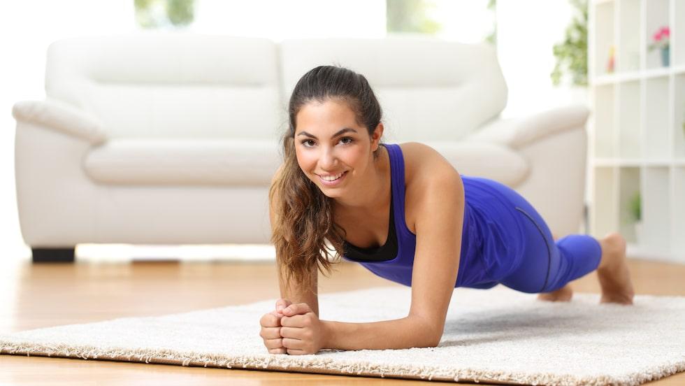Mycket träning går alldeles utmärkt att utföra hemma.