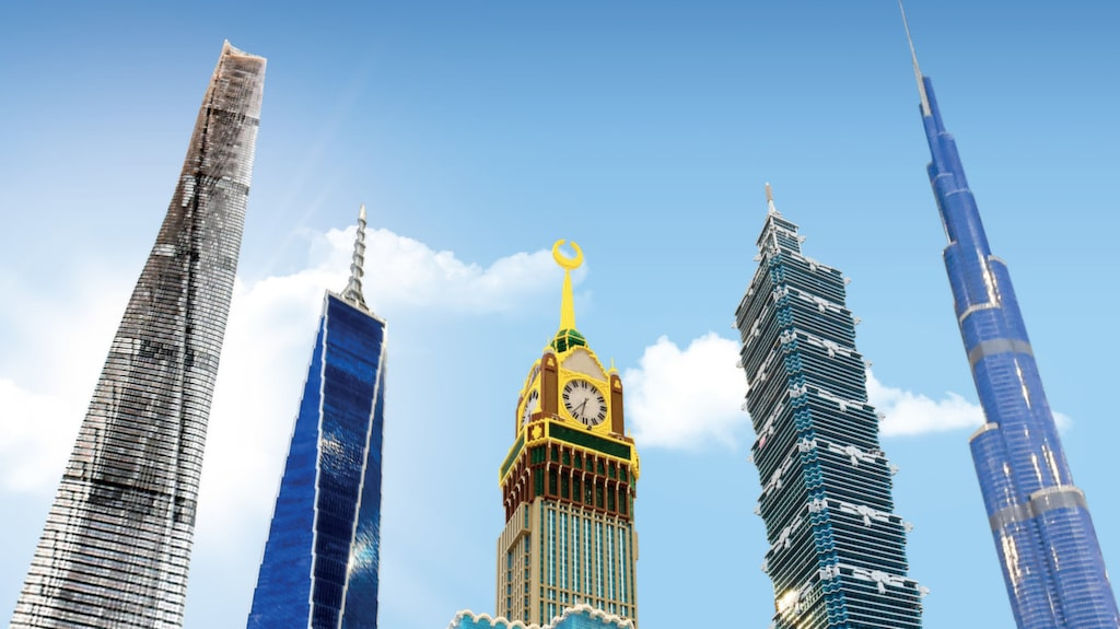 Årets stora nyhet är området World's Tallest – med världens fem högsta byggnader.