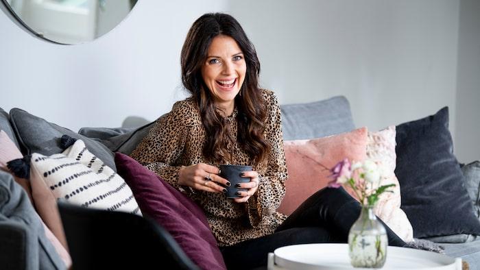 Malin Olsson hälsar i många hem. Hos sig själv tycker hon att harmonin är det viktigaste.