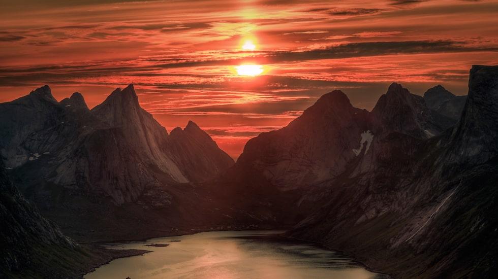 Under sommaren kan solen vara synlig under hela dygnet i de nordligaste destinationerna.