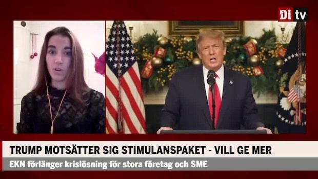 Donald Trump motsätter sig stimulanspaketet