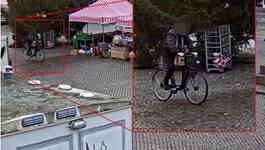 Här tar mördaren en cykeltur – efter dådet