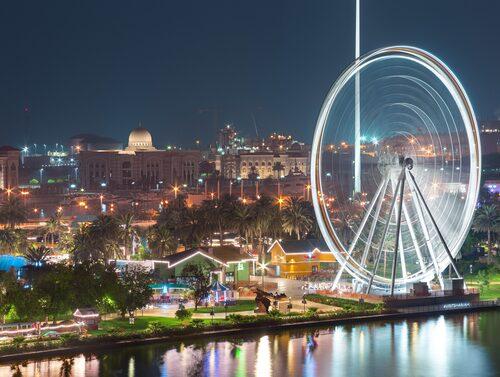 Eye of the Emirates har en ny plats sedan 2018.