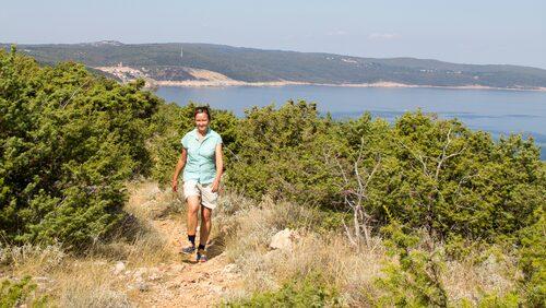 Krk har 68 vandringsleder på sammanlagt 300 kilometer.