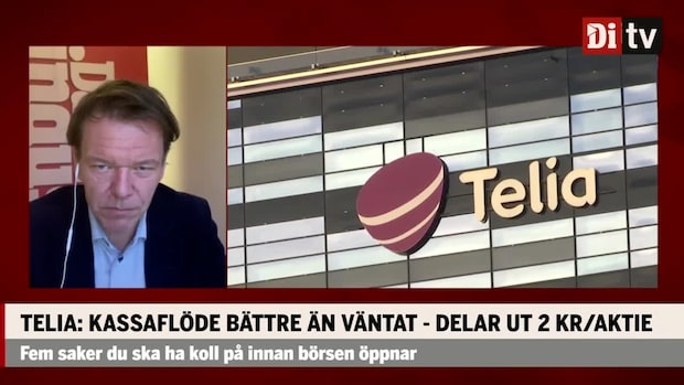 """Telia slår prognosen och delar ut 2 kronor per aktie: """"Inte jätterally här"""""""