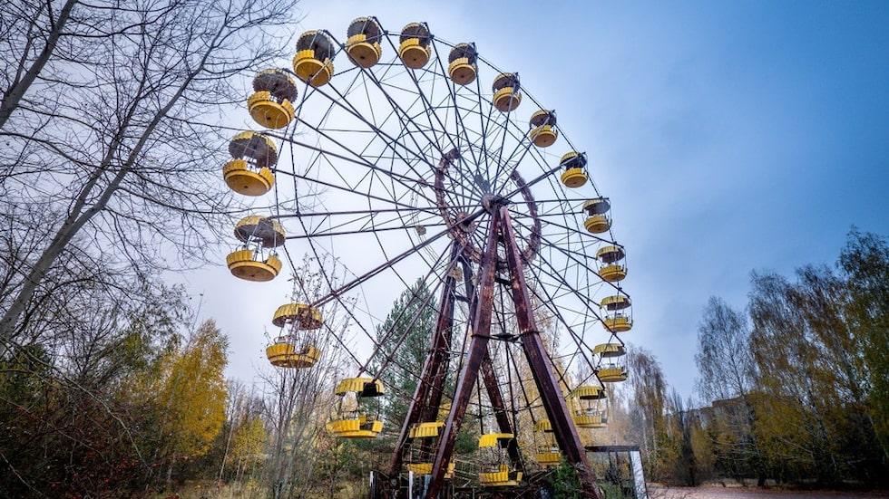 Det övergivna pariserhjulet har blivit en skrämmande symbol för Tjernobyl.