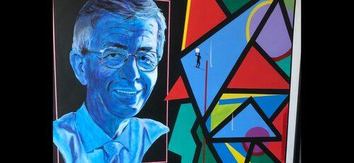 """Målningen """"Healer of the soul"""" har en klient, tidigare dömd för brott, målat åt Peter Althin. Efteråt har klienten inte återfallit i kriminalitet. Peter Althin, som är oerhört stolt över målningen, hade den hängande i sitt riksdagsrum."""