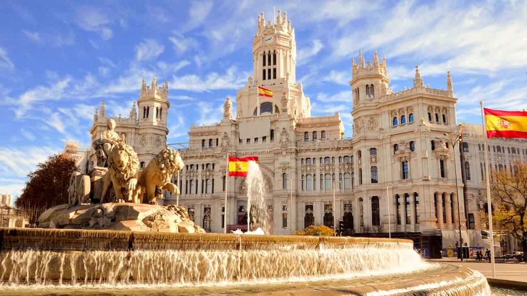 På höstlovet är det en behaglig temperatur i Spaniens huvudstad Madrid.