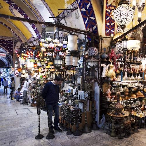 Grand bazaar är en av världens största täckta marknader.