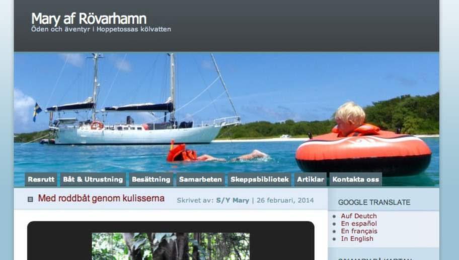 """Bästa resblogg: """"Mary af Rövarhamn"""" som drivs av familjen Hammarberg."""