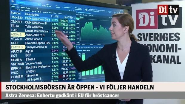 Börsöppning: Stockholmsbörsen stiger en halv procent - Telia i topp i OMXS30