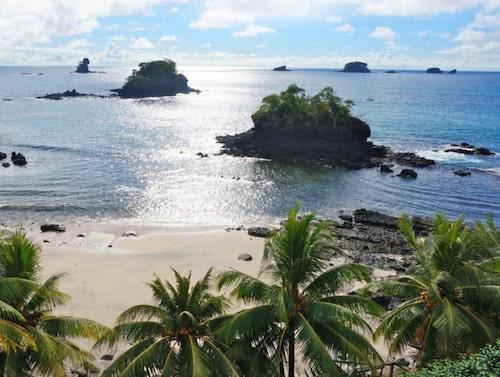 Vy från hotellet Hacienda del Mar, ön San José, ögruppen Las Perlas.