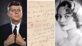 JFK:s kärleksbrev till svenska  älskarinnan säljs på auktion