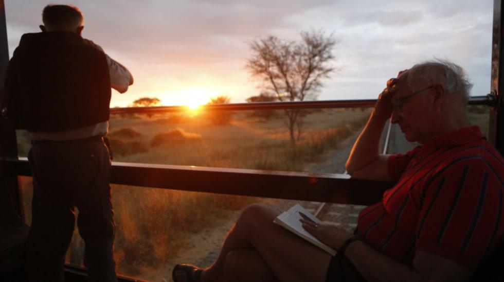 Den afrikanska solnedgången.