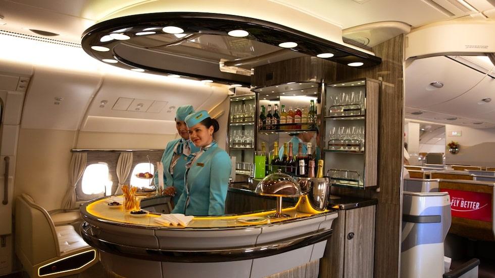 Emirats barer ombord är något extra.